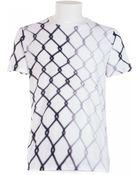 Jil Sander White Cotton T-Shirt With Print - Lyst