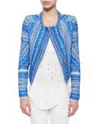 IRO Ozaka Patterned Tweed Cropped Jacket - Lyst