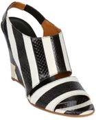 Chloé 110Mm Striped Ayers Wedge Sandals - Lyst