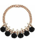 Mawi Rose Noir Necklace With Crystal And Studs - Lyst