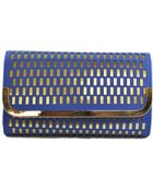La Regale Lazercut Flap Clutch - Lyst