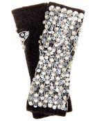 Dolce & Gabbana Sequin And Crystal-Embellished Gloves - Lyst
