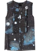 Marc By Marc Jacobs Stargazer Cotton And Silk Top - Lyst
