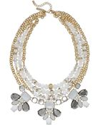 Inc International Concepts Goldtone Glass and Crystal Bead Statement Frontal Necklace - Lyst