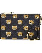 Moschino Bear-Print Quilted Clutch Bag - Lyst