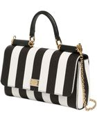 Dolce & Gabbana Jeans Striped Dauphine Leather Bag - Lyst