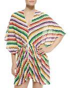 Missoni Mare Honeycomb Zigzag-Knit Caftan - Lyst