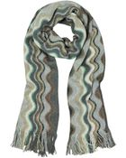 Missoni Waves Wool Blend Fringed Scarf - Lyst