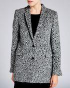 The Kooples Coat - Leopard Print Wool - Lyst