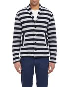 Barena Mixed-Stripe Sweater Jacket - Lyst