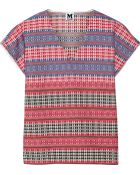 M Missoni Embroidered Cotton-Blend Top - Lyst