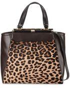 Diane von Furstenberg Runaway Leopard-Print Tote Bag - Lyst
