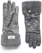 Ugg Quilted Water Resistant Gloves - Lyst