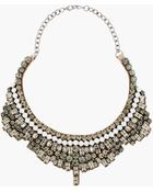 Valentino White Opal and Crystal Satinback Necklace - Lyst