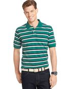Izod Striped Short-Sleeve Pique Polo - Lyst