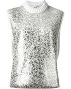 Iceberg Metallic Sleeveless Sweater - Lyst