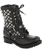 Ash Ryanna Studded Combat Boots - Lyst