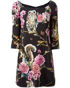 Dolce & Gabbana Enchanted Forest Mini Dress - Lyst