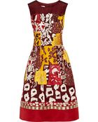 Oscar de la Renta Embellished Silk-Faille Dress - Lyst