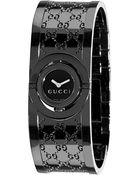 Gucci Women'S 112 Twirl Black Ion Plated Steel And Dial - Lyst