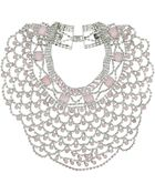 Topshop Premium Rose Opal Stone Collar - Lyst