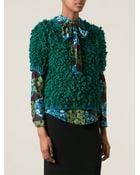 Stella Jean Textured Knit Short Sleeve Sweater - Lyst
