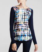 Nydj Abstract Plaid Print Top - Lyst