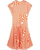 Preen Anakin Printed Silk Midi Dress - Lyst