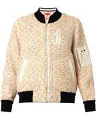 Coohem Vimar Knitted Tweed Bomber Jacket - Lyst