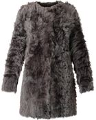 DROMe Reversible Leather And Shearling Coat - Lyst