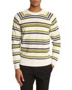 MELINDAGLOSS Jacquard White Sweater - Lyst