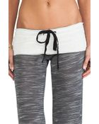 Tylie Wide Leg Space Dyed Knit Pants in Charcoal - Lyst