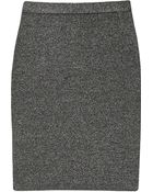 Alexander Wang Metallic Knitted Mini Skirt - Lyst