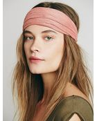 Free People Solid Woven Wideband - Lyst