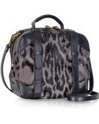 Jérôme Dreyfuss Sam Grey Leopard Print Haircalf Shoulder Bag - Lyst