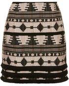 Topshop Tall Fringe Hem Aztec Pelmet Skirt - Lyst