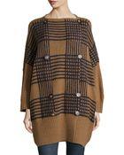 Stella McCartney Geometric-Inspired Wool Sweater Coat - Lyst