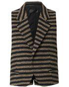 Haider Ackermann Bartolini Striped Wool Waistcoat - Lyst