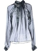 John Richmond Blouse - Lyst