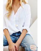 Urban Outfitters Large Pearl Pendant Necklace - Lyst
