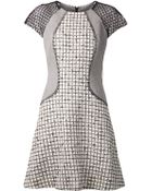 Lela Rose Blocked Boucle Dress - Lyst