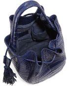 Nancy Gonzalez Medium Crocodile Tassel Bucket Bag - Lyst