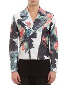 3.1 Phillip Lim Floral-Print Leather Moto Jacket - Lyst
