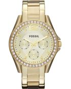 Fossil Stainless Steel Riley Watch - Lyst