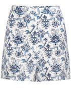 Tamara Mellon Printed Silk Shorts - Lyst
