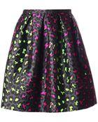 Christopher Kane Leopard-Jacquard Silk Skirt - Lyst