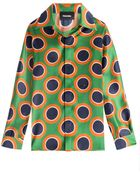 DSquared² Printed Silk Blouse - Lyst