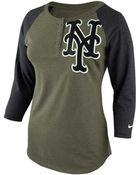 Nike Womens New York Mets Lights Out Raglan Top - Lyst