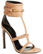Gucci 'Ursula' Braided Sandal - Lyst