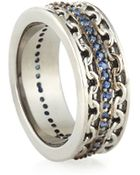 Stephen Webster Mens Silver Ring With Blue Sapphire - Lyst